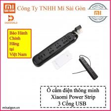Ổ cắm điện Xiaomi Power Strip 3 cổng USB - Đen