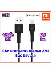 Cáp lightning ZMI AL803 (Dài 1m- dây bọc sợi) - Đen