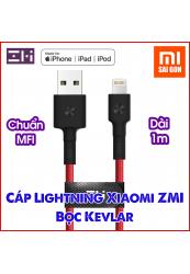 Cáp lightning ZMI AL803 (Dài 1m- dây bọc sợi) - Đỏ