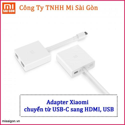 Adapter Xiaomi chuyển từ USB-C sang HDMI, USB