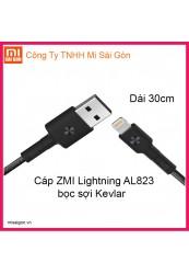 Cáp ZMI USB Lightning AL823( Dài 30cm) - Đen
