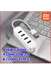 Hub Xiaomi 4 cổng USB 3.0 & 1 cổng Type C