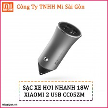 Sạc ô tô 2 USB Xiaomi (18W)