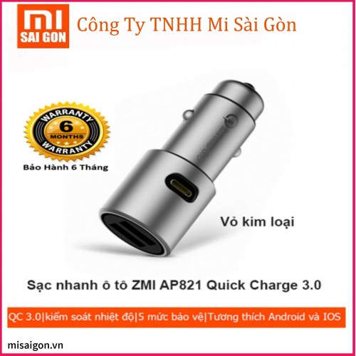 Sạc ô tô Original Xiaomi ZMI AP821 Quick Charge 3.0