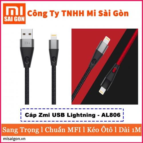 Cáp Gen 2 ZMI USB Lightning AL806 Dài 1m - 2019 (Hỗ trợ iPhone, iPad..)