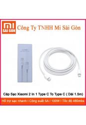 Cáp Sạc Xiaomi 2 In 1 Type C To Type C ( Dài 1.5m)