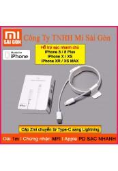 Cáp Type C sang Lightning Xiaomi Zmi AL870 ( Trắng ) - 1m