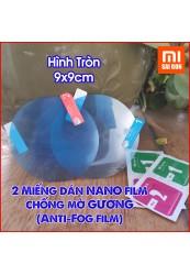 Hai miếng dán chống tụ nước mờ gương NANO (ANTI - Fog Film - Hình TRÒN)