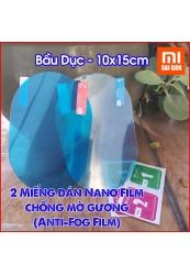 Hai miếng dán Nano chống mờ gương hình bầu dục Anti Fog-Film (Bầu dục- 10x15cm)