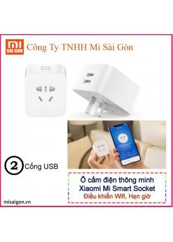 Ổ cắm Wifi Mijia Socket tích hợp 2 cổng USB 5V-2.4A