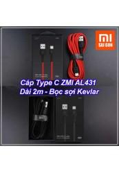 Cáp Type C ZMI AL431 ( Dài 2m - bọc sợi Kevlar )